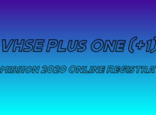 VHSE Plus One Admission 2020