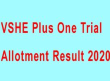 VHSE Plus One Trial Allotment Result 2020