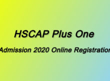 Kerala Plus One Onlie Registration 2020
