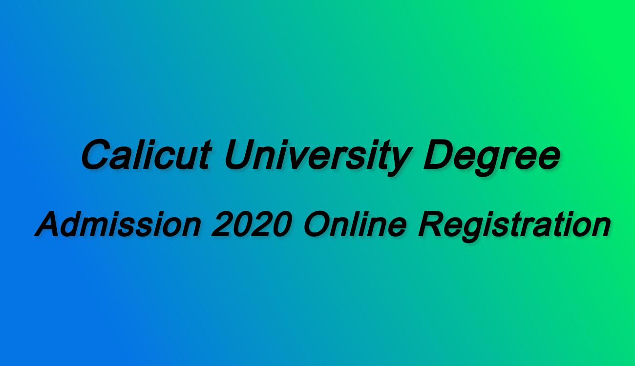 Calicut University Degree Online Admission 2020