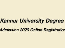 Kannur university Degree Admission 2020