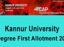 Kannur University Degree First Allotment 2020 - Check UG Allotment