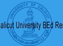 Calicut University BEd Result 2020