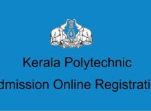 Kerala Polytechnic Admission Online Registration Application