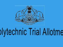Kerala Polytechnic Trial Allotment