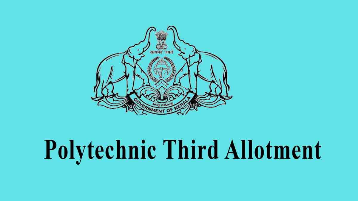 Kerala Polytechnic 3rd Allotment Result