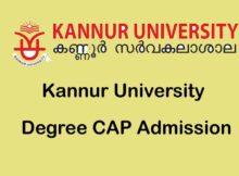 Kannur University Degree CAP Admission Aplication