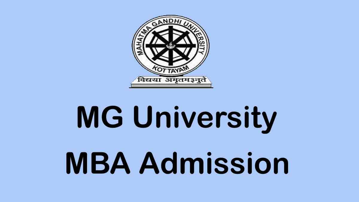 MG University MBA Admisison