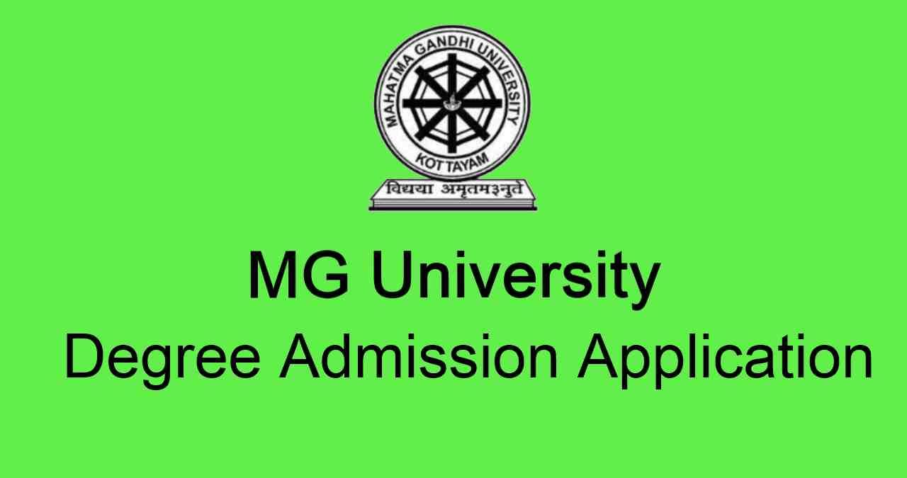 MG University Degree Admission Application