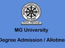 MGU UGCAP Admission / Allotment